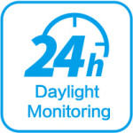 24 hours daylight monitoring