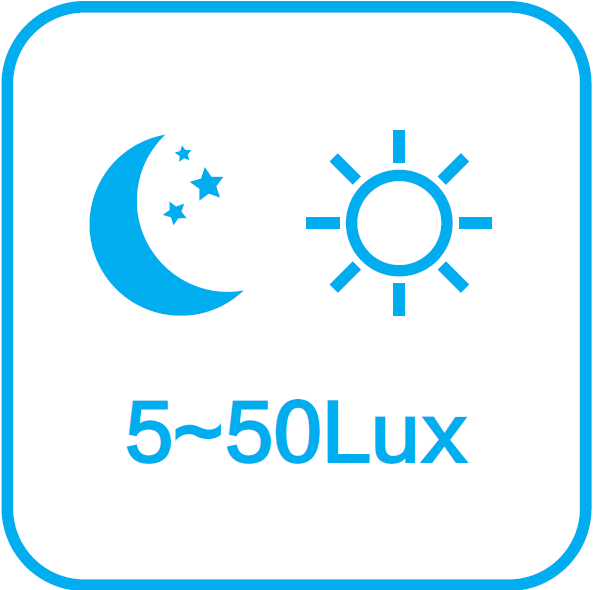 5-50 lux