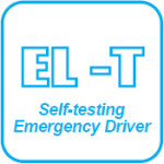 Self-testing emergency driver