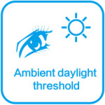 ambient daylight threshold